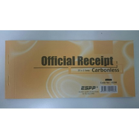 Official receipt - Carbonless