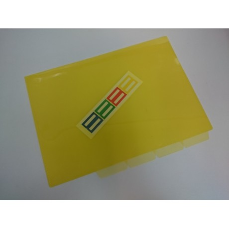 A4 L type file with divider